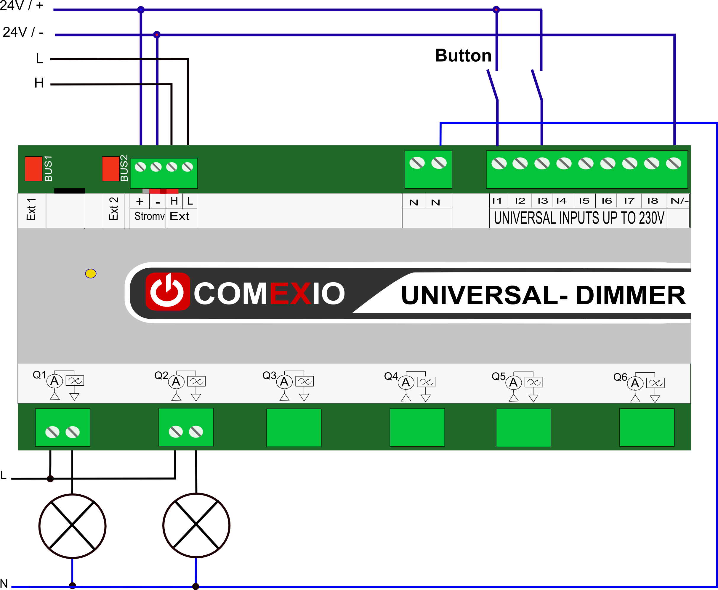 Smart Home in Perfektion - Technical data Universal-Dimmer