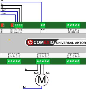 Rollladensteuerung mit Universal Aktor